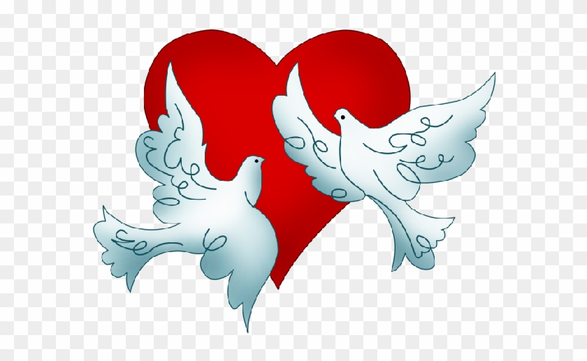 Bell Clipart Red Wedding - Couple Dove For Wedding - Png Download #118929