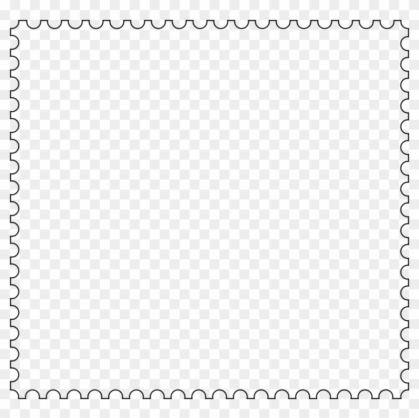 Stamp Mail Frame - Clip Art Stamp Outline - Png Download #1104590