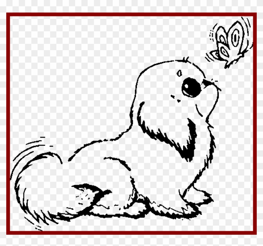 Latest Coloring Pages Of Cute Dogs Excellent Colouring Puppy Love Cute Dog Coloring Pages Clipart 1115507 Pikpng