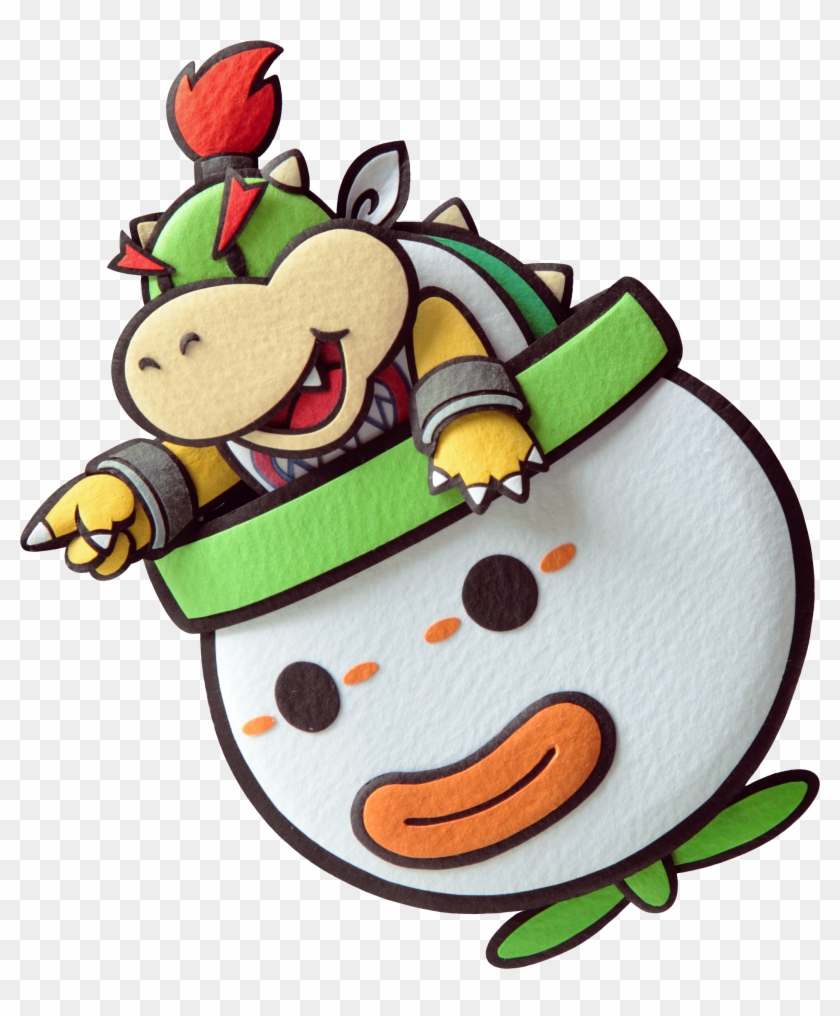 Super Mario Clipart One Star Draw Paper Bowser Jr Hd Png