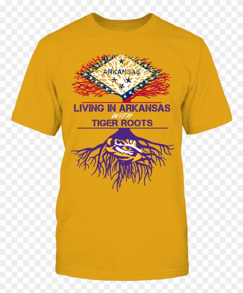 Lsu Tigers - Cotton Printed T Shirt Clipart #1122324