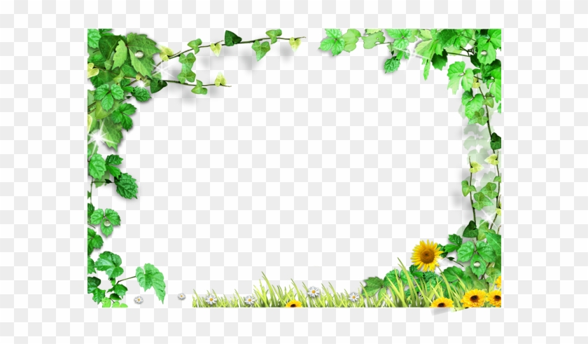 Template Green Leaves Frame - Green Leaves Background Png Clipart #1122939