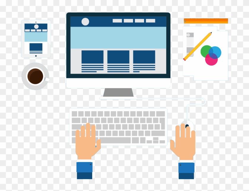 Cropped Kisspng Web Development Responsive Web Design - Web Designing And Development Vector Clipart #1131755