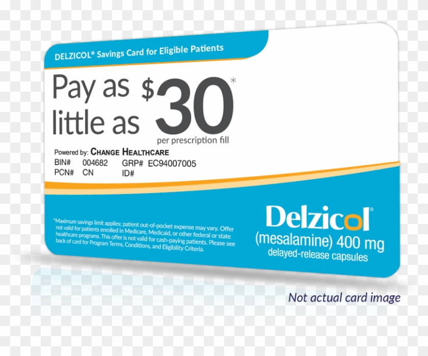 To Register And Print A Delzicol Savings Card, Please - Health Care Clipart #1132199