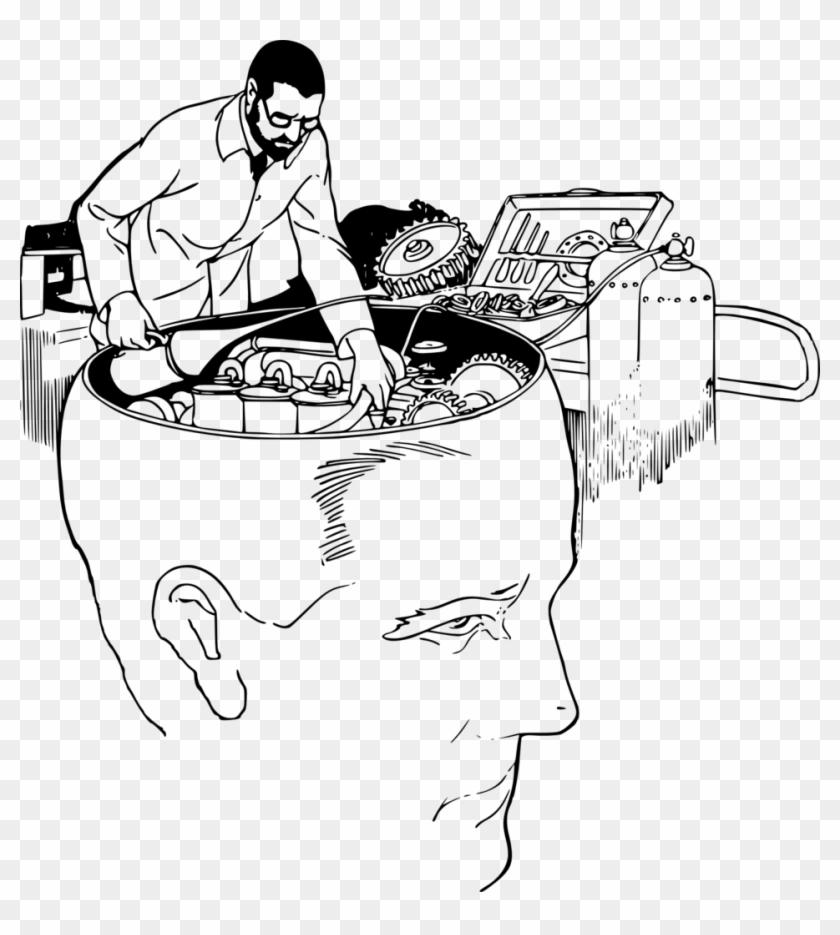 Fixing A Brain - Short Term Memory Drawing Clipart #1143491