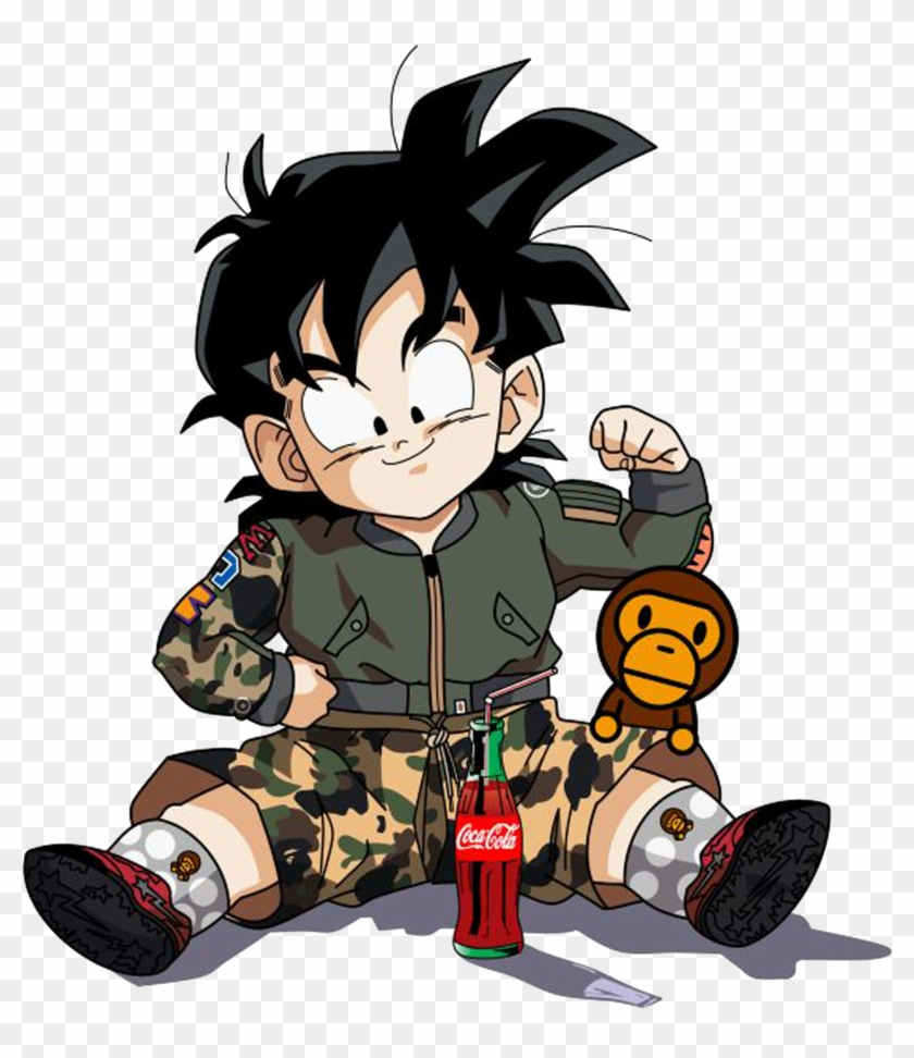 Dragon Ball Supreme Bape Goku Goten Gohan Vegeta Accessories - Supreme Dragon Ball Z Clipart #1145929