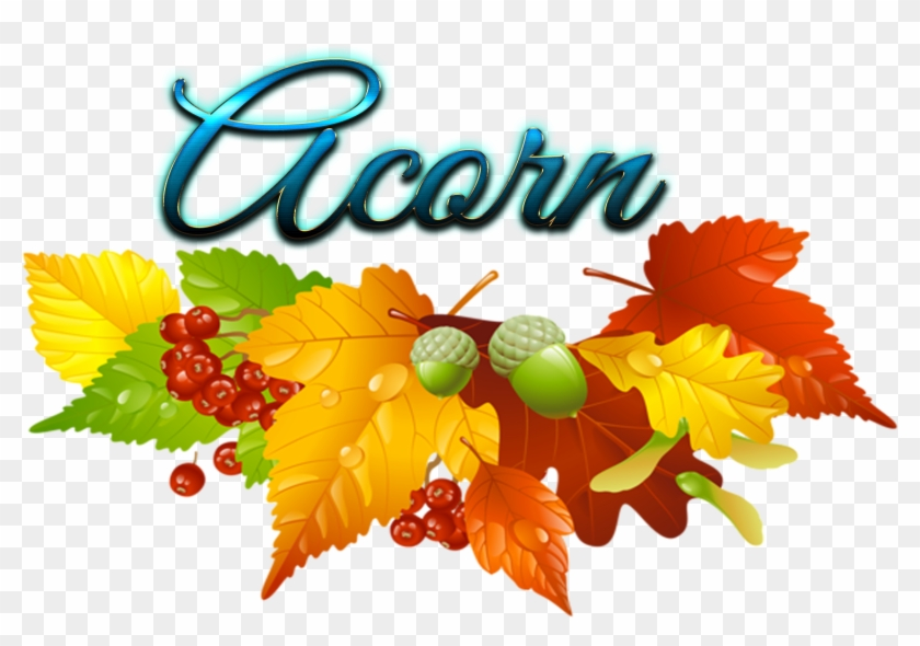 Fall Leaves Wreath Clipart - Png Download #1148579