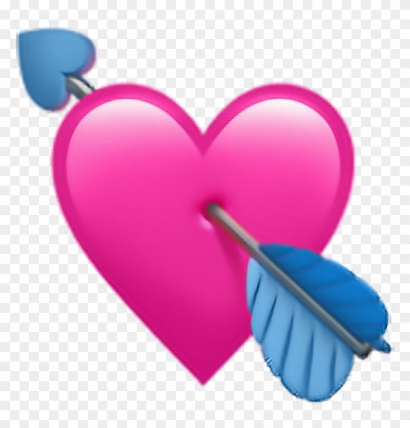 Heartwitharrowemoji Heart With Arrow Emoji - Heart With Arrow Emoji Clipart #1148769