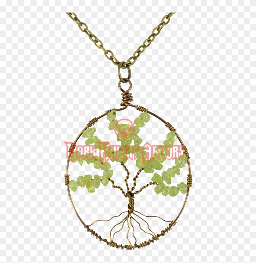 Wire Wrapped Celtic Tree Of Life Necklace - Locket Clipart #1154364