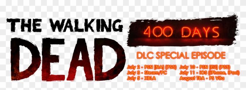 The Walking Dead - Telltale Walking Dead 400 Days Logo Clipart #1159618