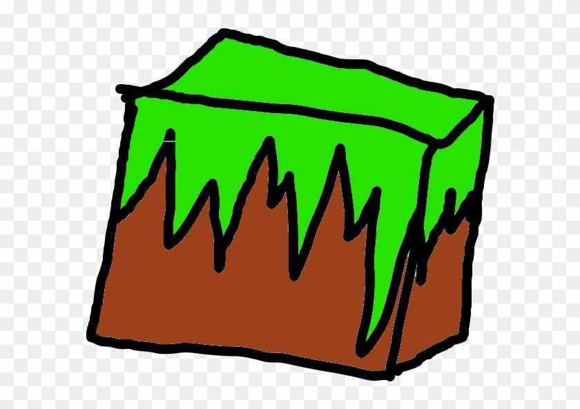 Minecraft Grass Block By - Minecraft Cartoon Block Clipart #1159967