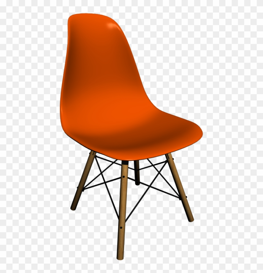 Eames Plastic Side Chair Dsw By Vitra - Modern Chair Top View Clipart #1161888