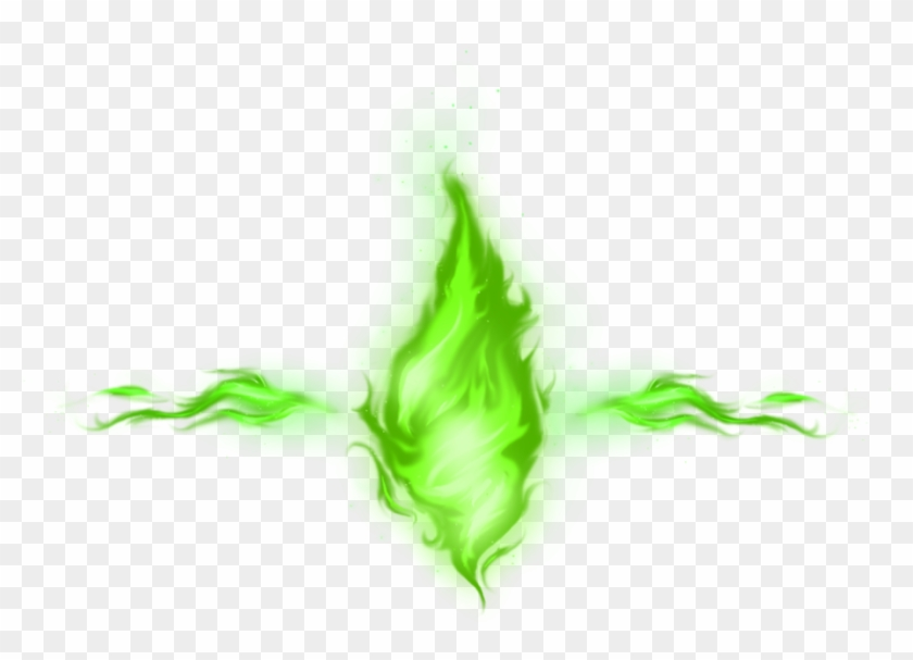 Green Smoke Png Photo - Green Fire No Background Clipart #1166387