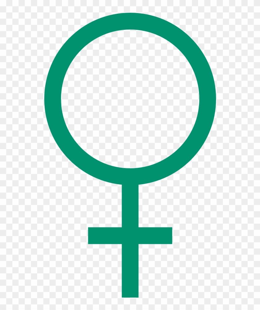 Male Mrs Female (mrs Venus) - Female Symbol Green Clipart #1175643