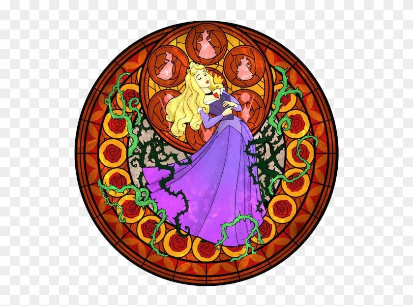 Sleeping Beauty Clipart Beauty Sleep - Kingdom Hearts Stained Glass Window, HD Png Download #1179325
