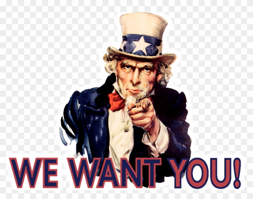 Png Uncle Sam Wants You Pluspng - We Want You Guy, Transparent Png #1188770
