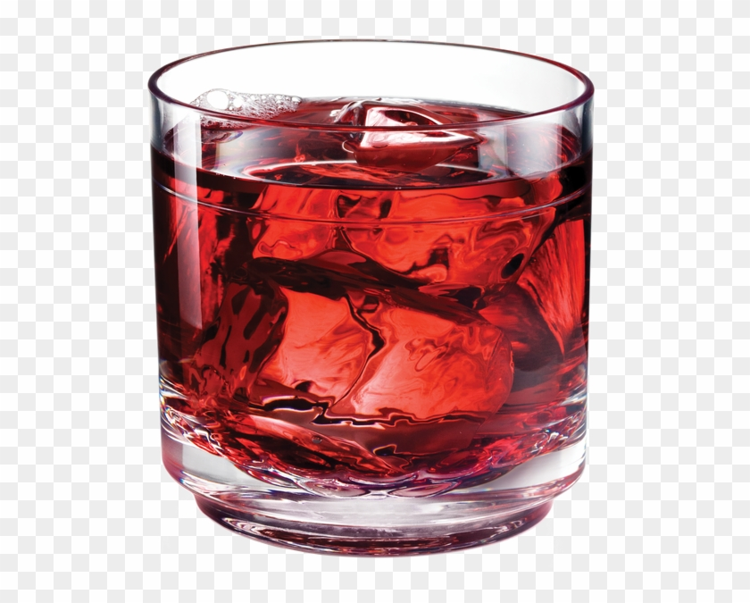 Drinique Elite Rocks Glass 10 Ounce With Cranberry - Old Fashioned Glass Clipart #1189739