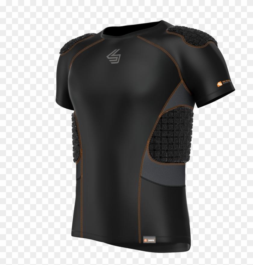 Core Shockskin 5-pad Shirt - Active Shirt Clipart #1192875