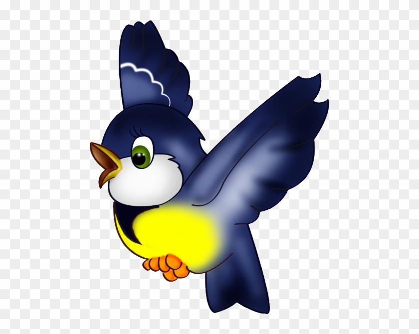 Blue Bird Clip Art - Clip Art Flying Bird - Png Download #1198285