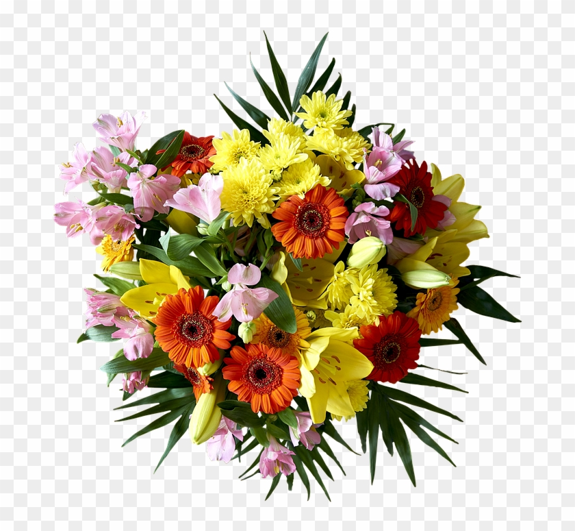 Bouquet, Flower, Plant, Nature, Ornament, Leaf, Color - Vase And Flowers With Happy Teachers Day Clipart #120046