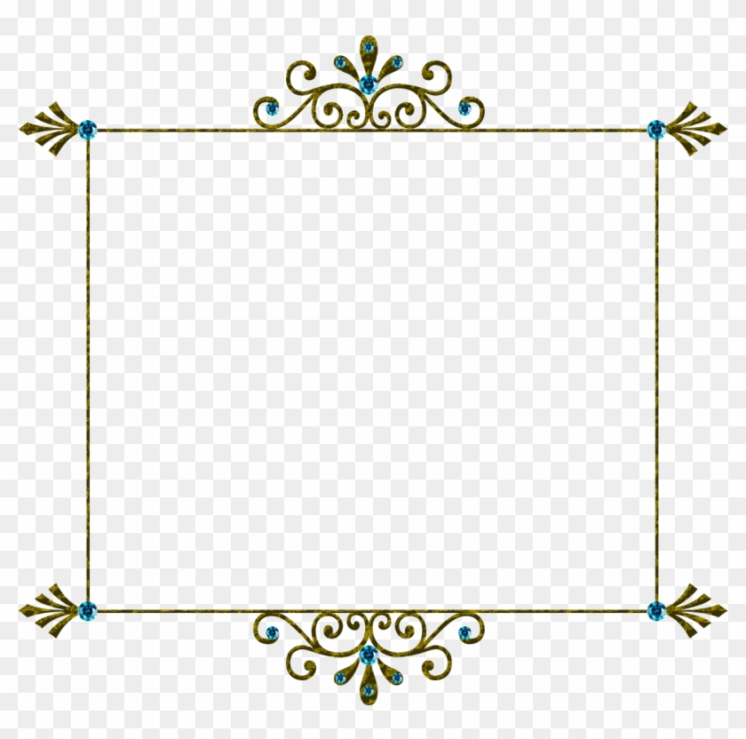 Fancy Borders Png - Vector Black And White Frame Png Clipart #121201