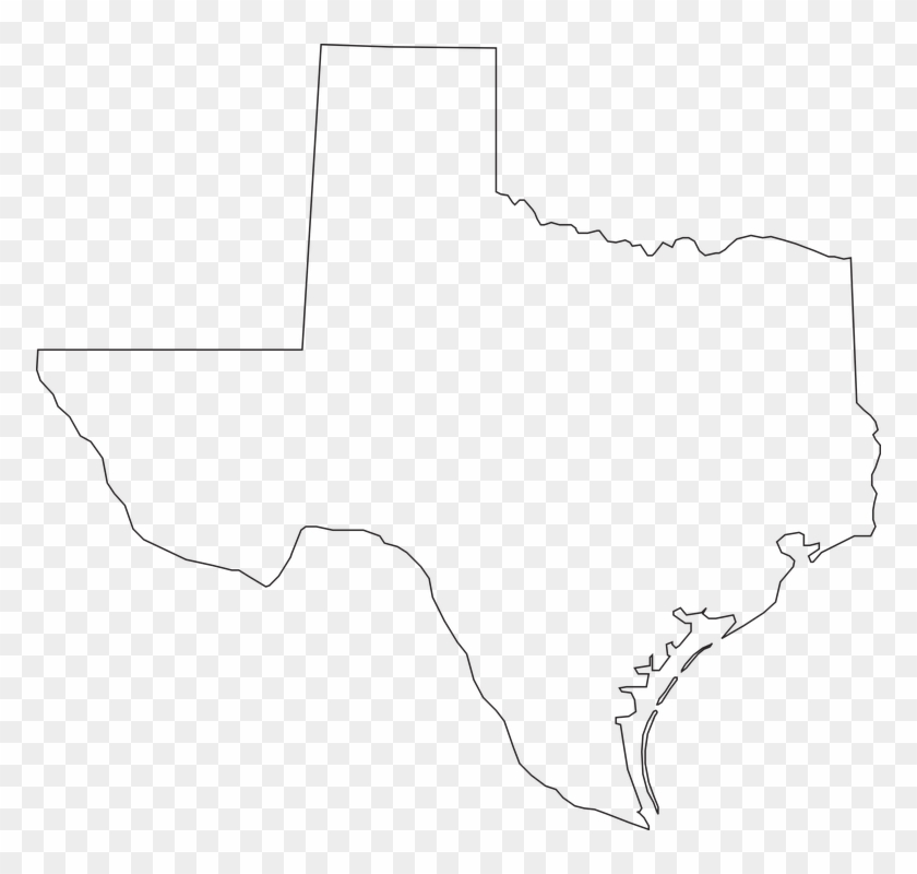 Texas State Png - Texas State Outline Png Clipart #122164