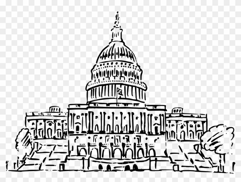 United States Capitol White House Texas State Capitol - Us Capitol Building Clipart - Png Download #122679
