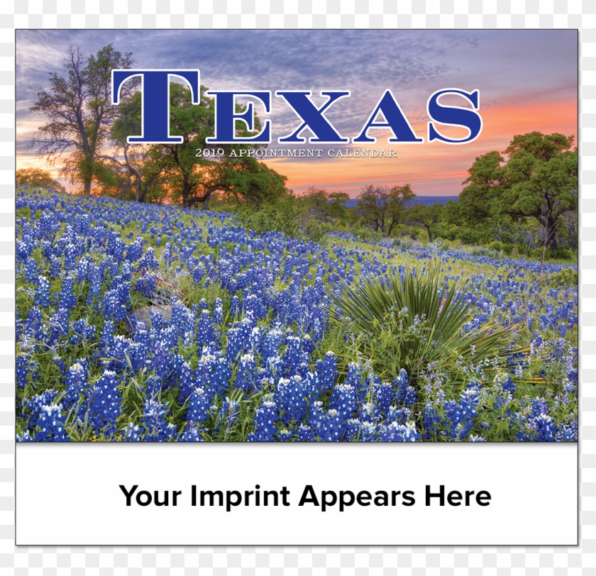 Picture Of Texas State Wall Calendar - Bluebonnet Clipart #122822