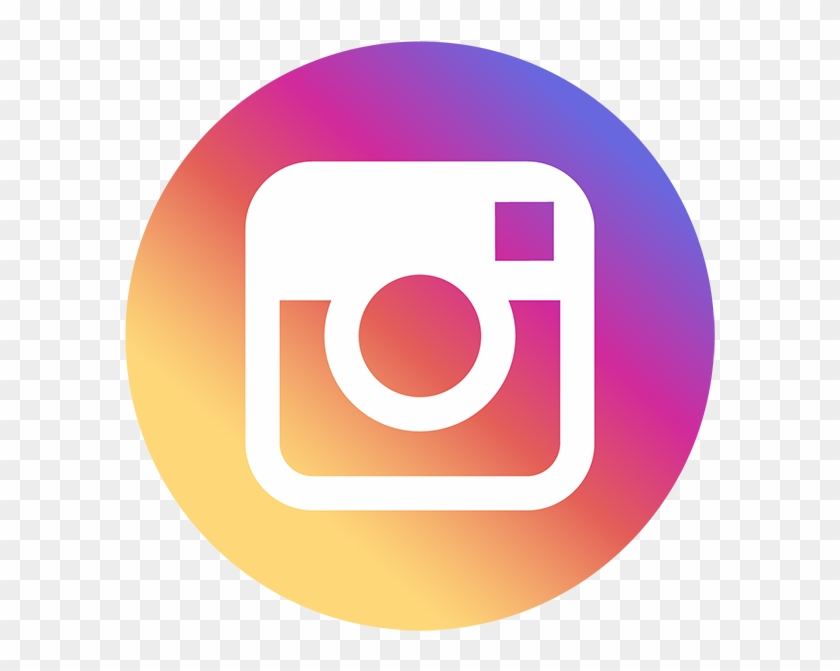 Follow Us On - Small Instagram Round Icon Clipart #123419
