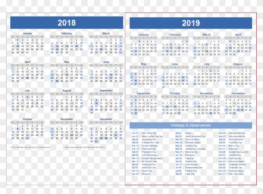 Free Png 2018 2019 Calendar Png Wallpaper Png Images 2019
