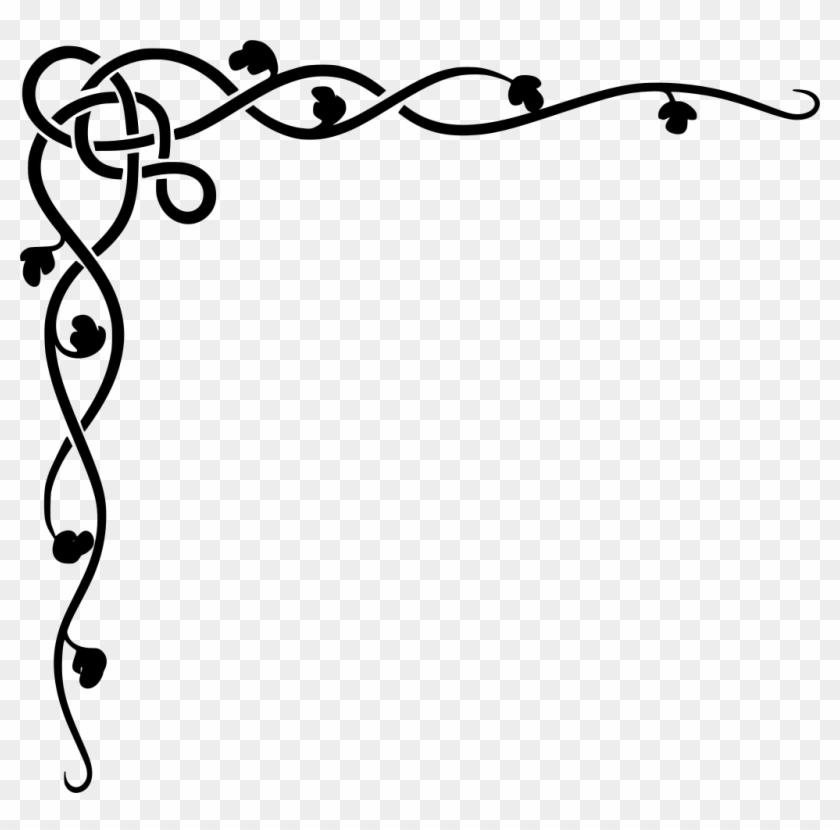 Free Christmas Borders, Wedding Borders, Celtic Border, - Vines Border Design, HD Png Download #125621