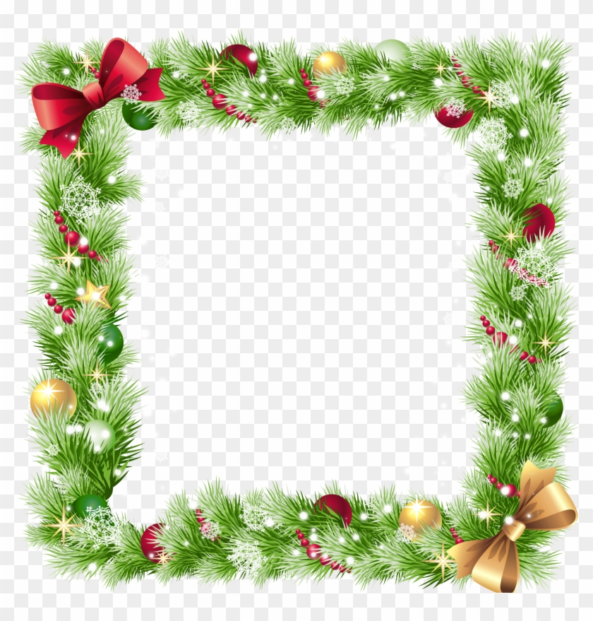 Christmas Ornament Border Png - Square Christmas Frame Png Clipart@pikpng.com