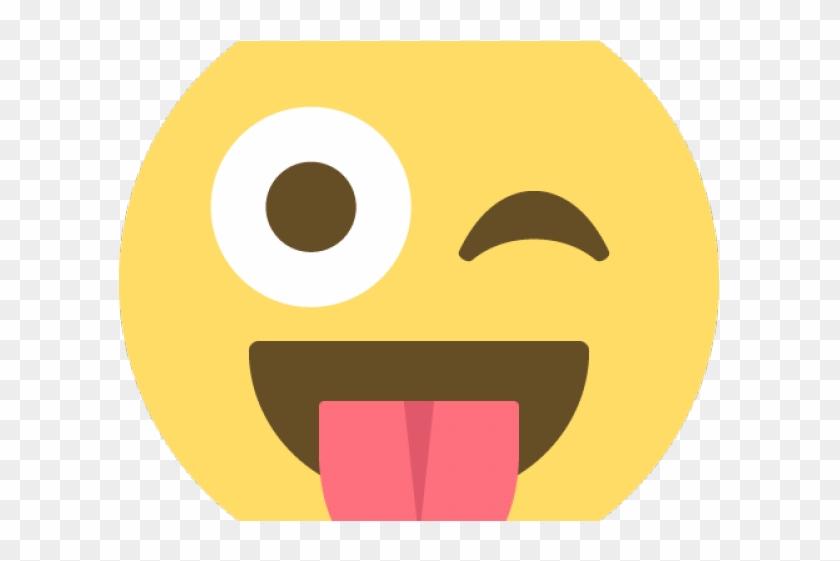Emoji Face Clipart Eye Vector - Stuck Out Tongue Emoji, HD Png Download #128870