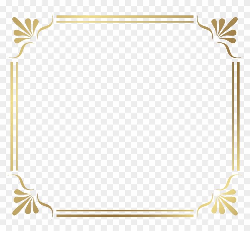 Frame Border Png Image - Gold Frame Ornaments Png Clipart #129527