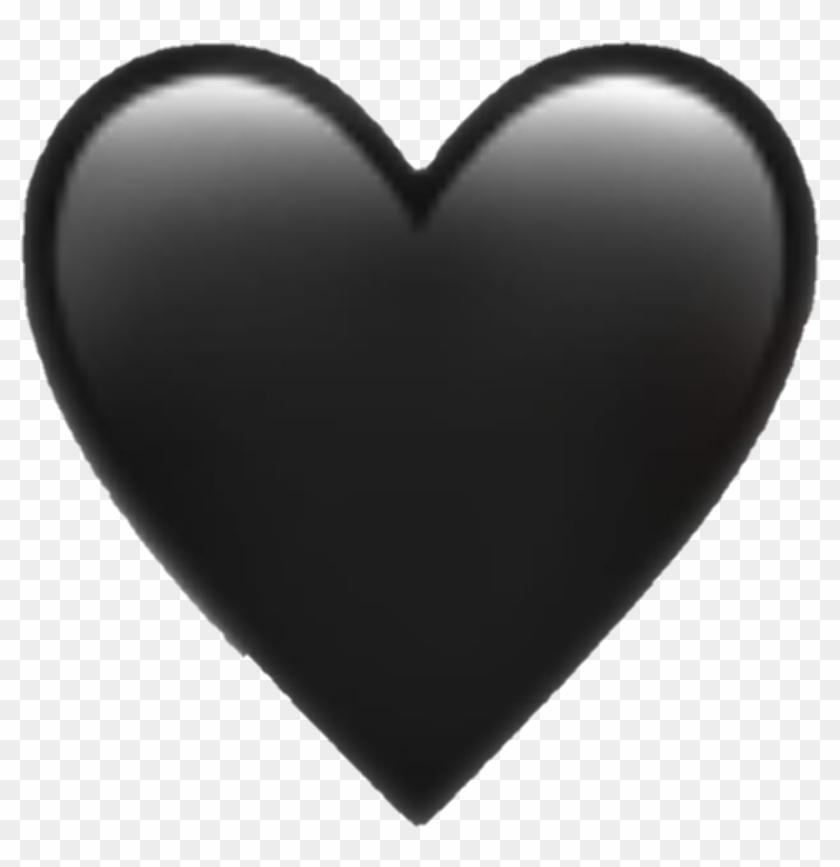 Emoji Blackheart Blackandwhite Blackpink Black Heart - Iphone Heart Emoji Png Clipart #1202453