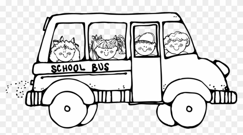 Safety Coloring Page Clipart Panda Free Images - School Bus Clip Art Black  And White - Png Download (#1207455) - PikPng