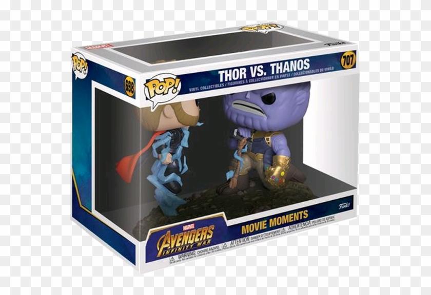 Avengers Infinity War - Thor Vs Thanos Funko Pop Clipart #1216423