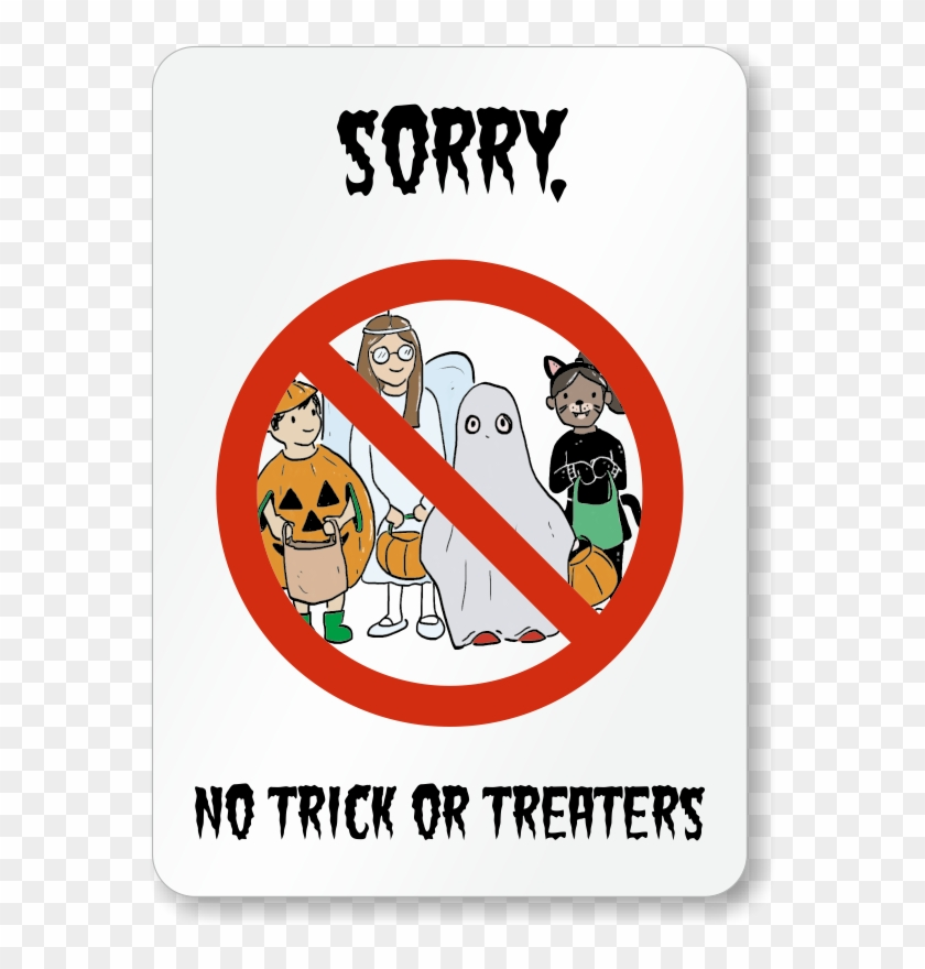Trick Or Treat Sign - Cute Halloween Girl Clipart - Png Download (#3605203)  - PinClipart