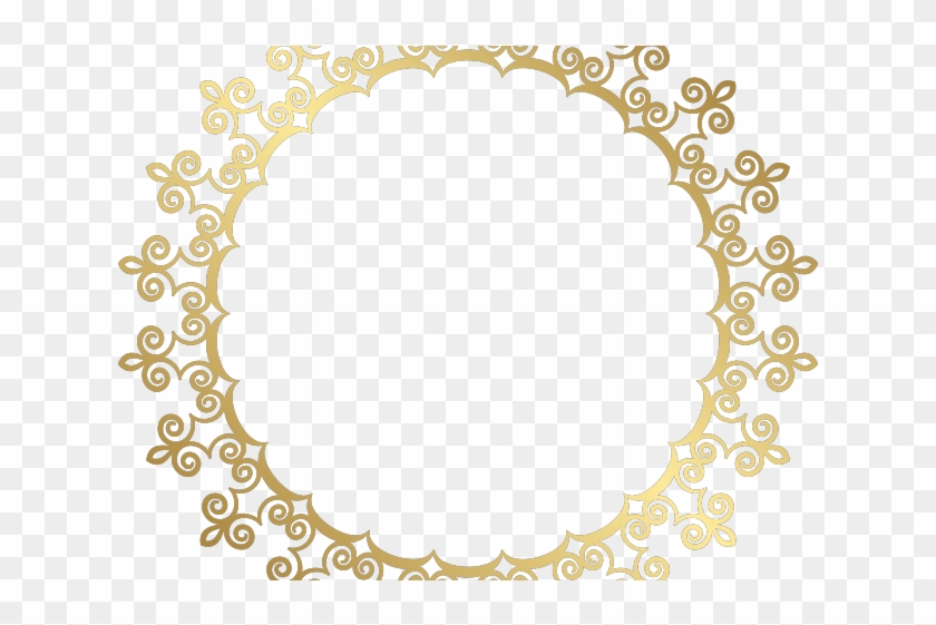 Decorative Line Gold Clipart Png - Circle Gold Frame Png Transparent Png #1216964
