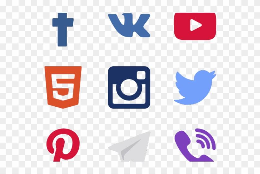 Social Media Icons Clipart Transparent Background - Social Media Logos Transparent - Png Download #1219846