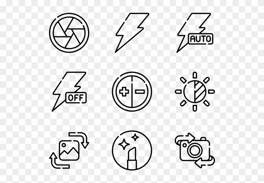 Camera Interface - Hand Drawn Icon Png Clipart #1223691