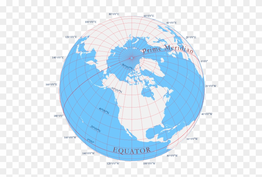 An Image Of Parallels And Meridians - Globe Clipart #1224038