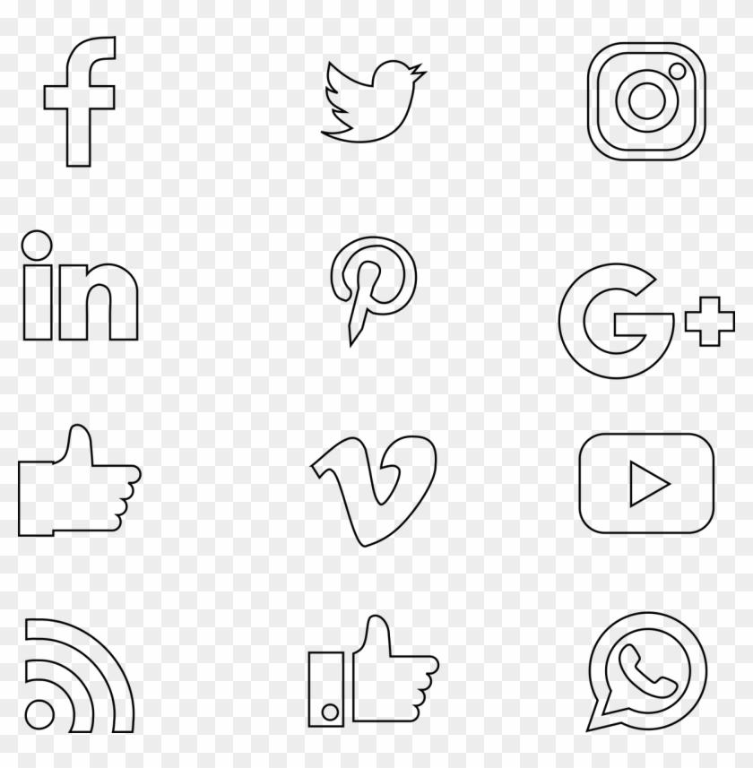 Social Media Thin - Social Media Clipart #1234066