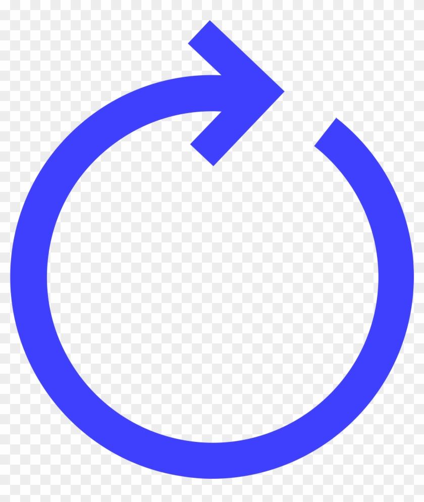 Big Image - Blue Circle Arrow Png Clipart #1241047