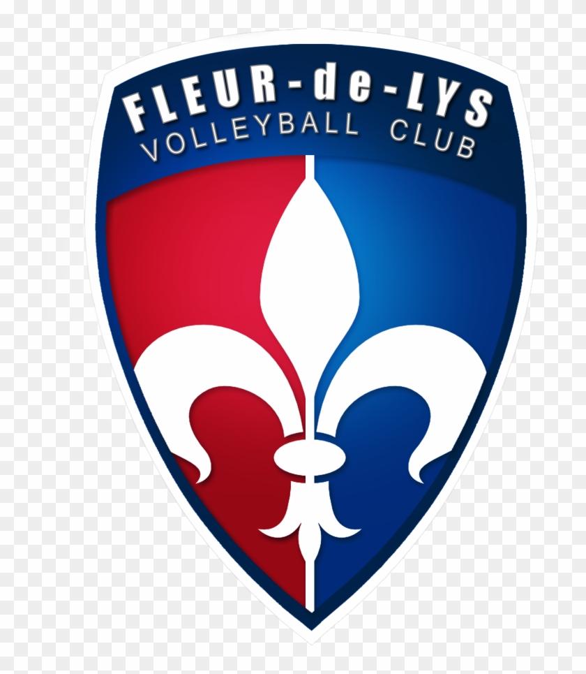 Fleur De Lys - Fleur De Lys Volleyball Club Logo Clipart #1242902