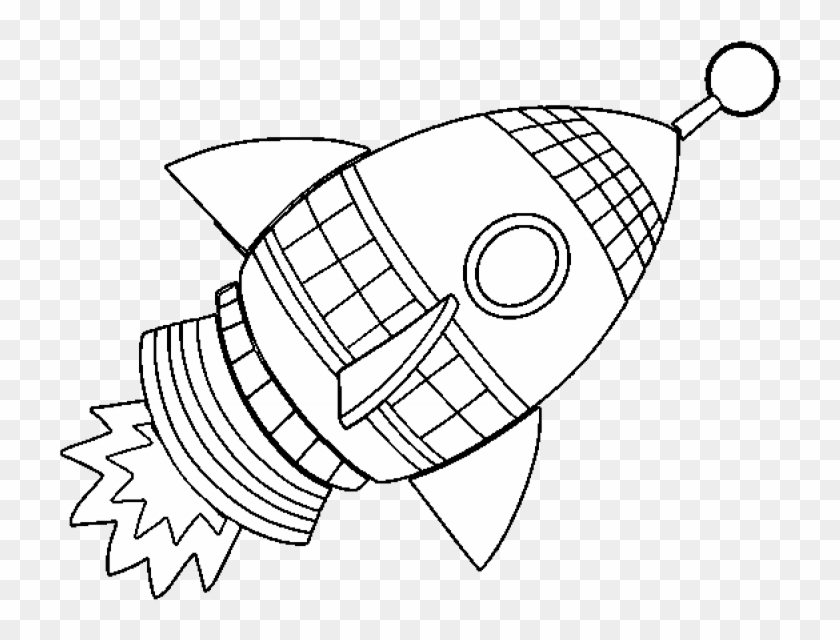 Picture Of Rocket Ship Coloring Pages Of Rockets Clipart 1244455 Pikpng