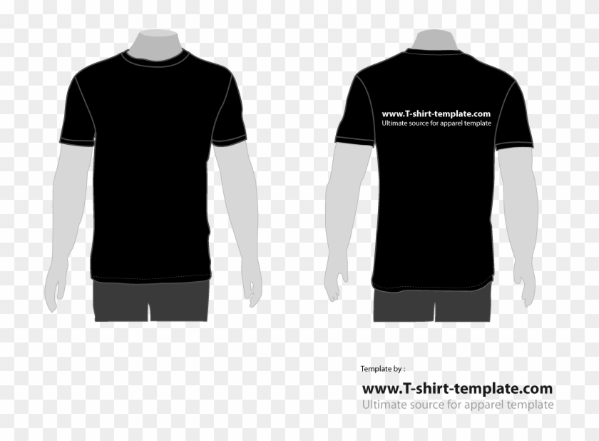 Clip Art Library Stock Free Moder T Template Back Tshirt - Black T Shirt Back Vector - Png Download #1245821