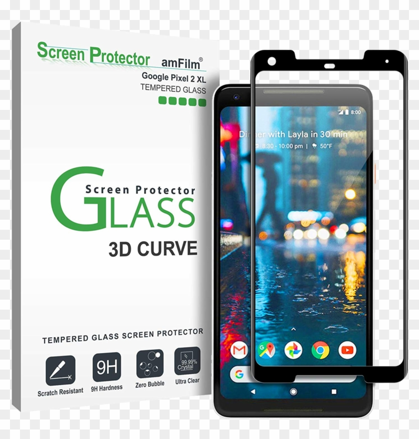 Best Tempered Glass Screen Protectors For Google Pixel - Pixel 2 Xl Tempered Glass Clipart #1247243