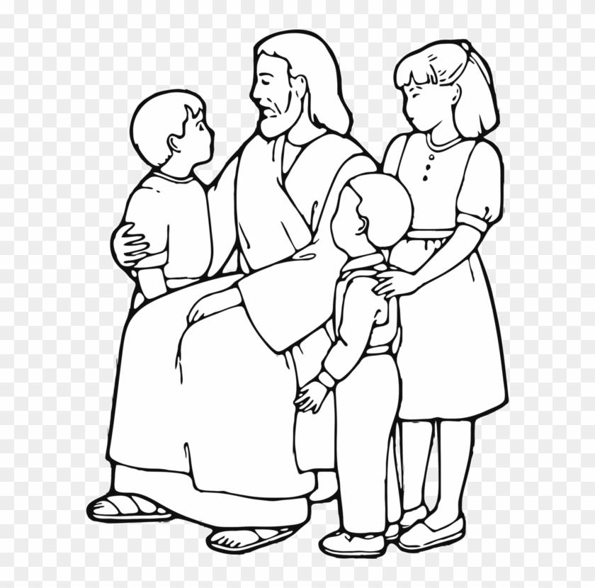 - Teaching Of Jesus About Little Children Coloring Book - Jesus Teaching  Children Clip Art - Png Download (#1249837) - PikPng