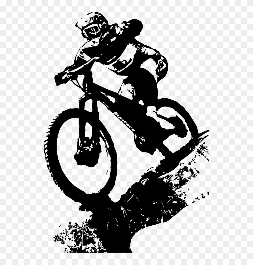 Mountain Bicycle Tattoo Cross Bike Cycling Biking Clipart - Downhill Mountain Bike Logo - Png Download #1264332